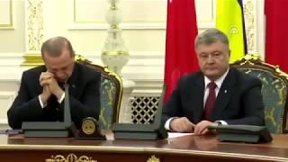 Эрдоган уснул на пресс-конференциис Порошенко