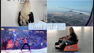 TRAVEL WITH ME! | NEW HAIR, NITRO CIRCUS & MORE!