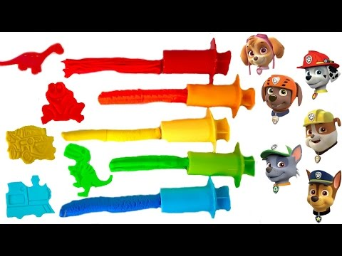 Paw Patrol Play Doh Colorful Shapes Children Learning Learn Colors Colours