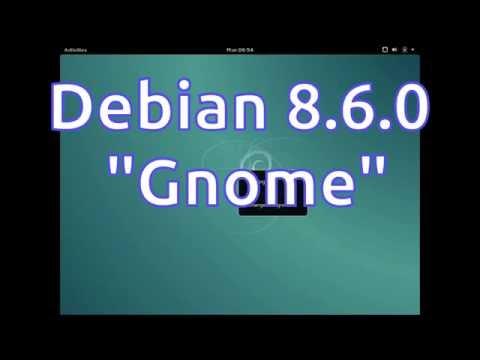 """Debian 8.6.0 """"Gnome"""" Preview"""