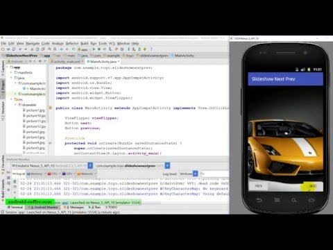 Slideshow with next and prev buttons in Android Studio 1 5 1