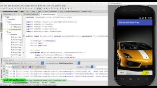 Slideshow with next and prev buttons in Android Studio 1.5.1