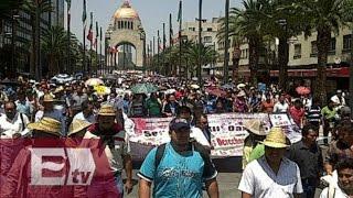 Marcha de campesinos cierra circulación en Reforma / Comunidad