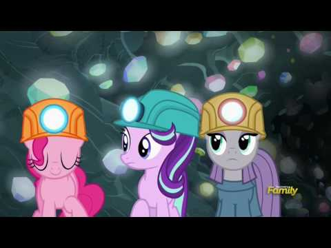 Pinkie traps Maud & Starlight in the cave - Rock Solid Friendship