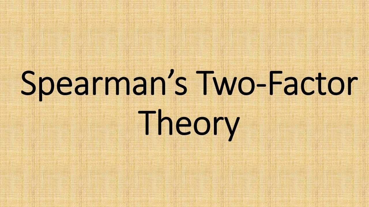 spearmans theory