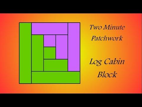 Easy Patchwork Block Tutorial - Log Cabin