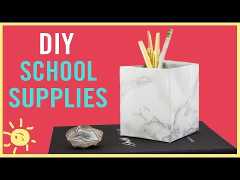 DIY | Back To School Supplies (So Cute & Easy!!)