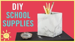 DIY | Back To School Supplies (So Cute & Easy!!)