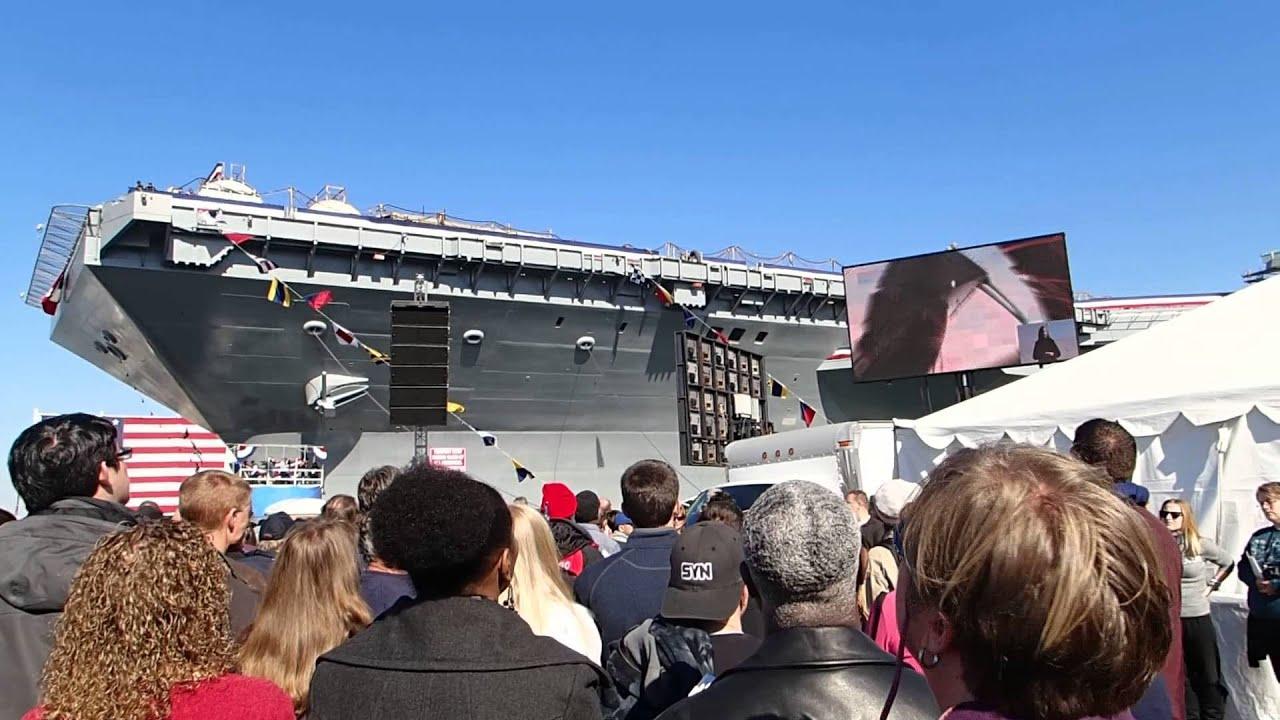 USS Gerald R. Ford - Christening - CVN 78 - YouTube
