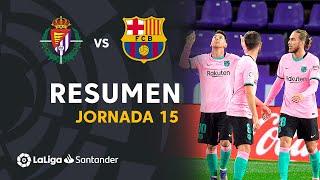 Resumen de Real Valladolid vs FC Barcelona (0-3)