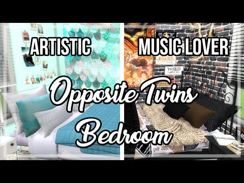 The Sims 4: Room Build || Opposite Twins Bedroom [Artistic/Music Lover]