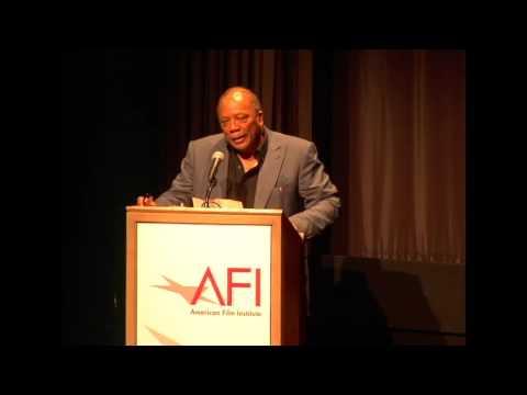 Quincy Jones and Newton Lee at American Film Institute