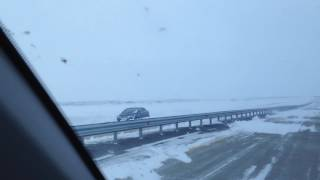 Последствия бурана на трассе Караганда-Астана
