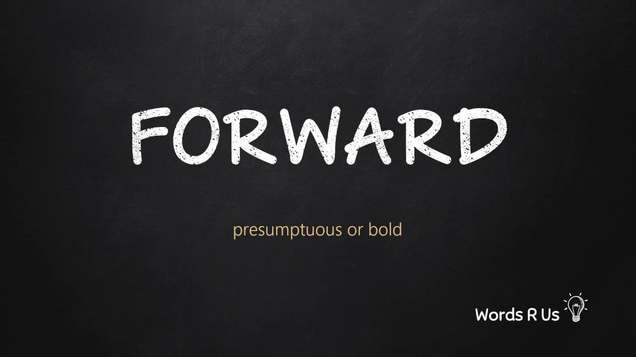 How to Pronounce FORWARD in American English