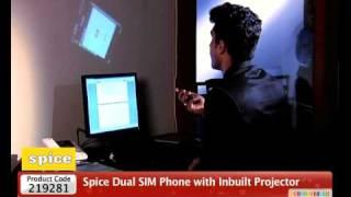 HomeShop18-Spice Dual SIM Phone with Inbuilt Projector Popkorn -M9000@6499