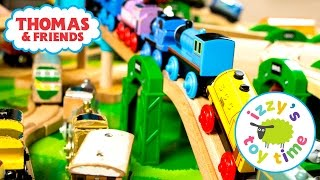 Thomas and Friends | NEW RARE THOMAS TRAIN and Sodor Airship Hangar | Toy Trains for Kids thumbnail