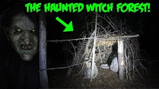 THE HAUNTED WITCH FOREST! WITCHCRAFT WAS DONE HERE (BLAIR WITCH?)