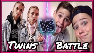 Lisa And Lena VS Max And Harvey Musical.ly Battle | Top Twins Musically Battle 2017