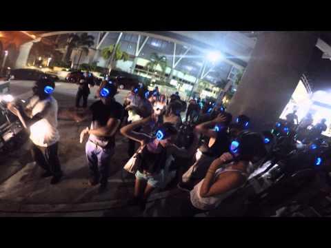 Hiphop Silent Disco on Miami Metro Mover