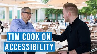 Conversation about Accessibility w/ Tim Cook of Apple | #GAAD