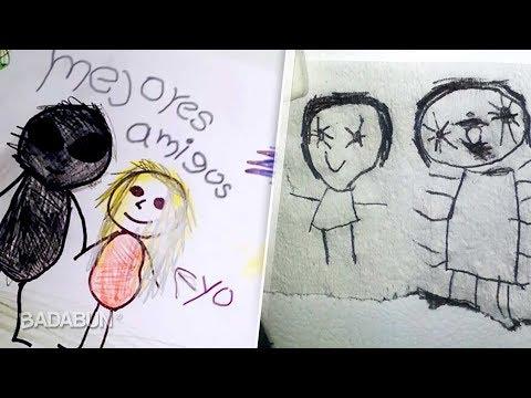 7 Dibujos Escalofriantes Hechos Por Niños