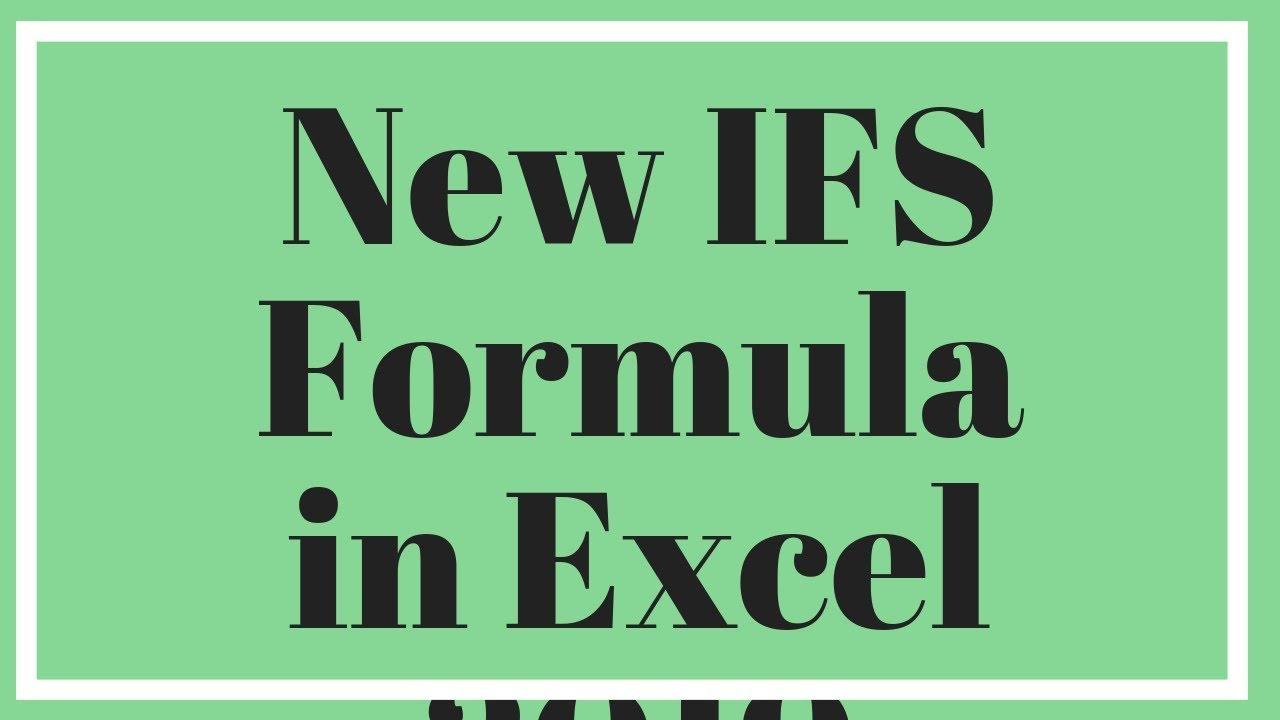 IFS Formula Excel 20