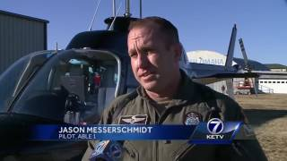 Helicopter assists with pursuit