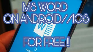 Download and use MS word on android