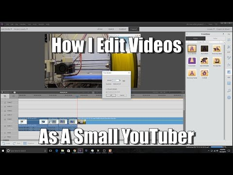 How I Edit Videos (Adobe Premiere Elements 15)