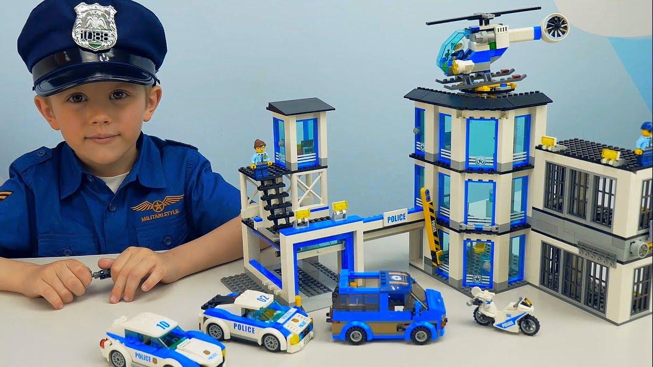 Полиция Лего Сити и Полицейский Даник спасают украденную собаку. Полицейские машинки  Lego Police