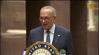Schumer speech : Blasts Trump's executive orders .