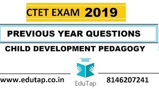 Most Important questions of Child Development and Pedagogy For CTET 2019, HTET, PSTET, UPTET