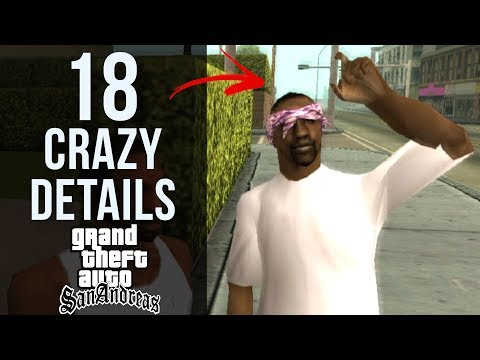 18 CRAZY Details in GTA: San Andreas