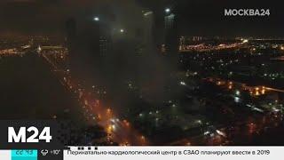 Смотреть видео Пожар произошел в здании склада на востоке Москвы - Москва 24 онлайн