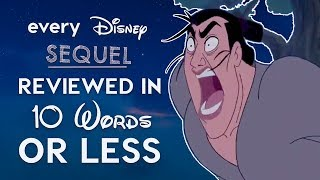 Every Bad Disney Sequel Reviewed in 10 Words or Less! thumbnail