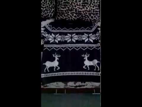 мужской свитер с оленями (Алиэкспресс)