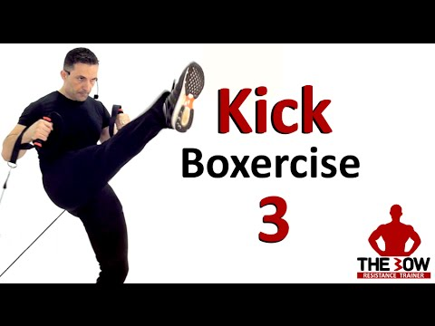 BOW Kick-Boxercise Lesson 3.  Kick Boxing training with Coac
