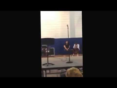 Destinee mikell at Albert cammon middle school talent show