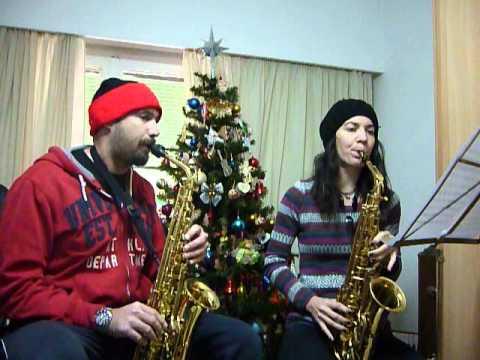 Joy to the World Christmas Carol sax alto duet