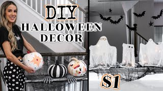 DIY HALLOWEEN DECOR // DOLLAR STORE | leighannsays