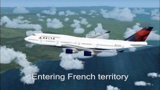 Delta Air Lines Flight DL245 Rome to JFK- Full Flight (FS2004)
