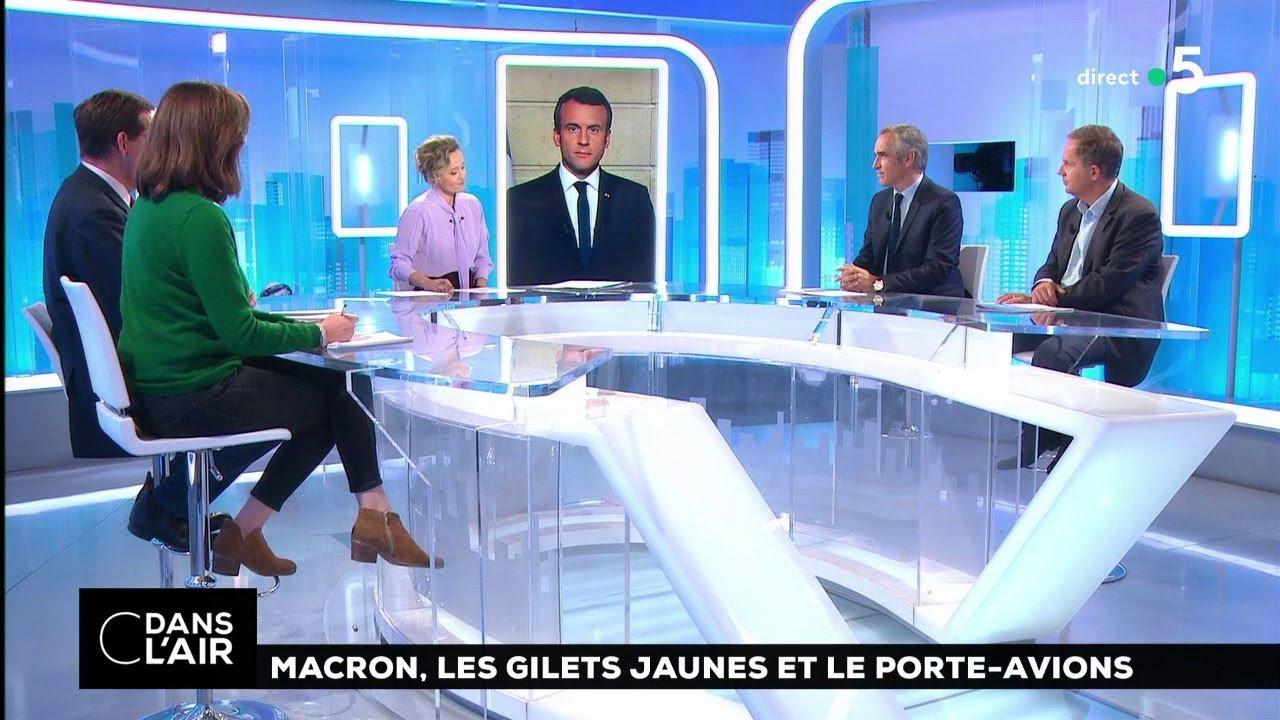 Macron, les gilets jaunes et le porte-avions 15.11.2018  #cdanslair