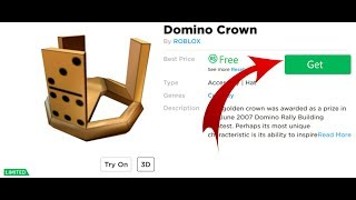 ROBLOXDA BEDAVAYA DOMİNO CROWN NASIL ALINIR ?/HOW TO GET FREE DOMINO CROWN IN ROBLOX