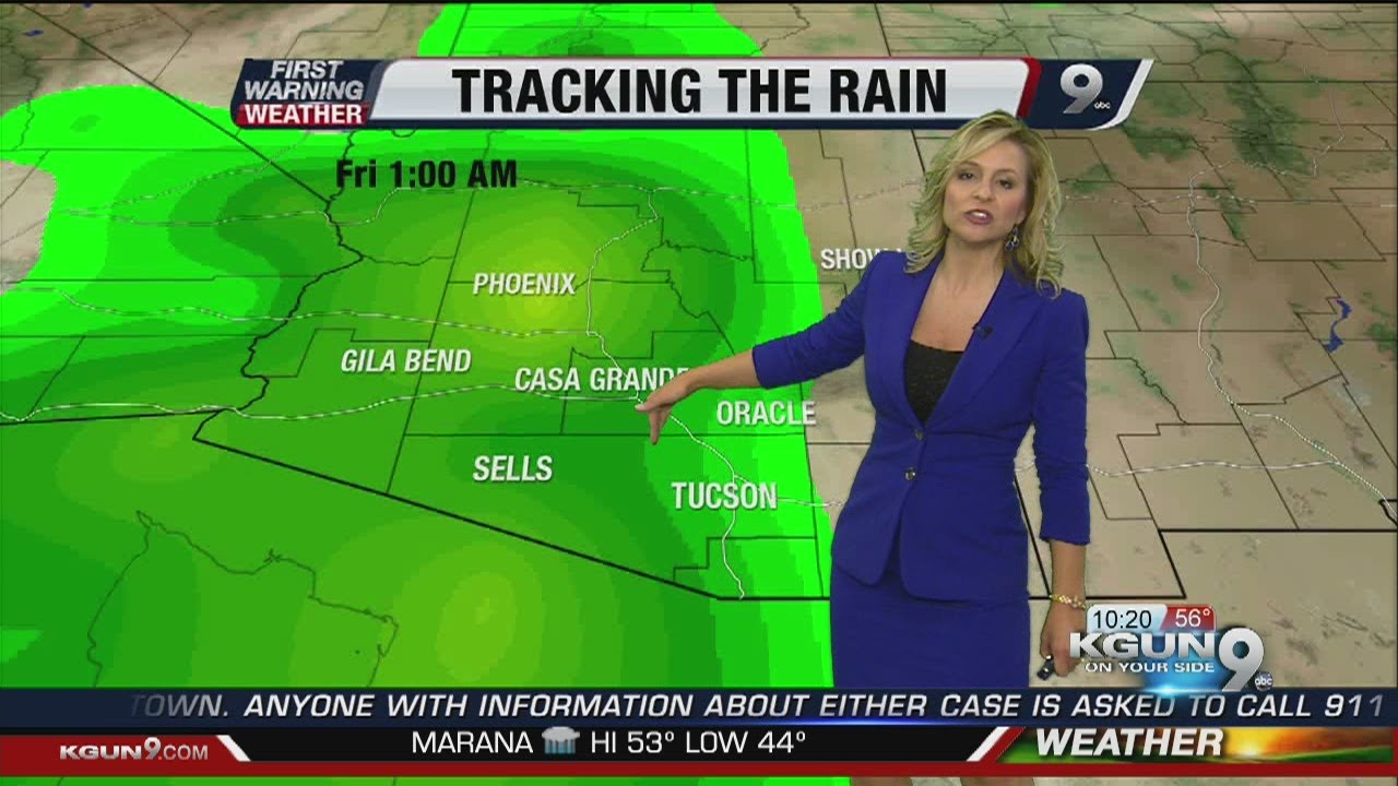 Chief meteorologist erin christiansen s kgun 9 forecast at 10pm