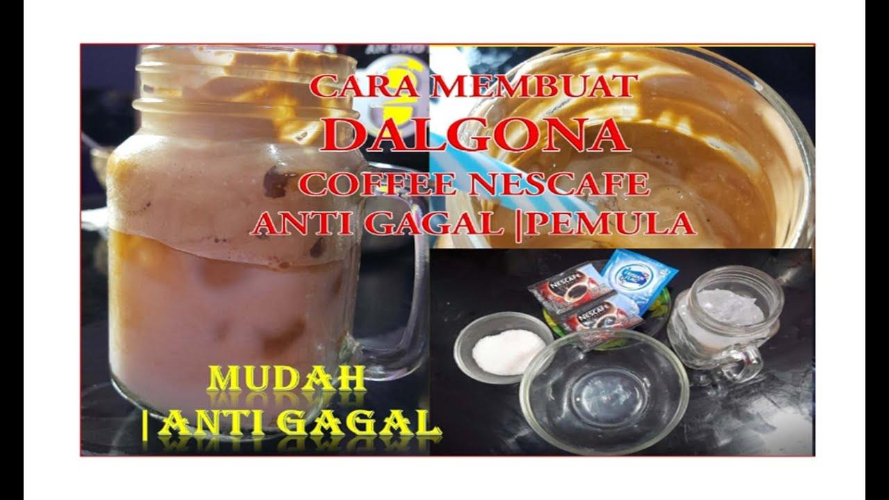 CARA MEMBUAT DALGONA COFFEE NESCAFE ANTI GAGAL |PEMULA ...