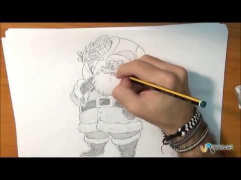 Impara A Disegnare Babbo Natale Anime Cartoon