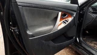Toyota Camry xv40. Перетяжка дверных карт.