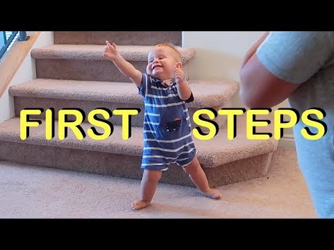 BABY'S FIRST STEPS!! (FIRST TIME WALKING)