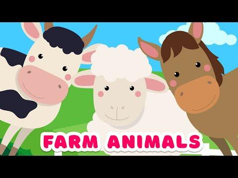 Farm Animals Names & Sounds - Farm animals for kids
