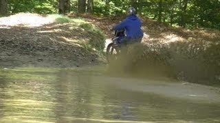 Drowning Yamaha 450 Dirt Bike
